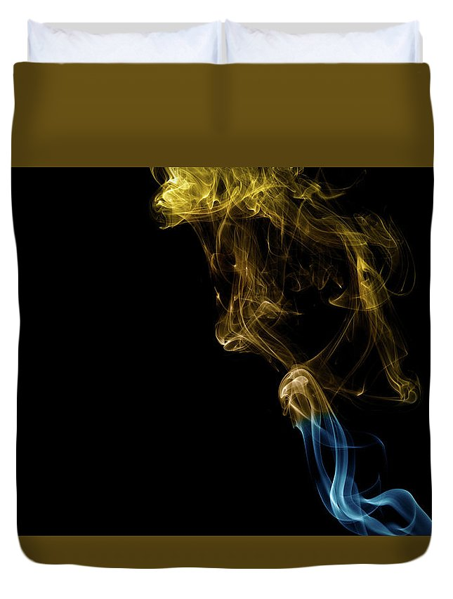 Smoke Duvet Cover featuring the photograph Golden Blue by Neil Crawford
