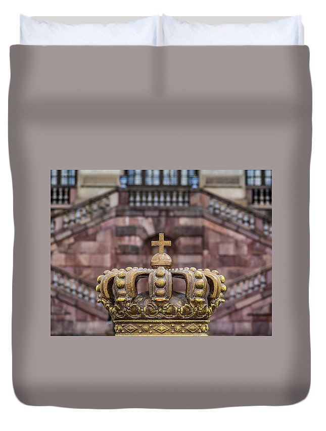Stockholm Duvet Cover featuring the photograph Golden Crown by Robin Zygelman
