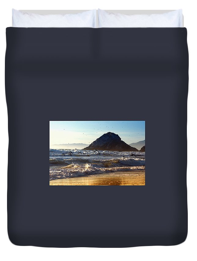 Nature Duvet Cover featuring the photograph Golden Day by John K Sampson
