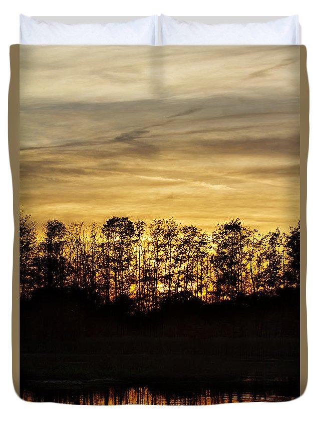 Sun Set Duvet Cover featuring the photograph golden Dusk by Steffen Krahl