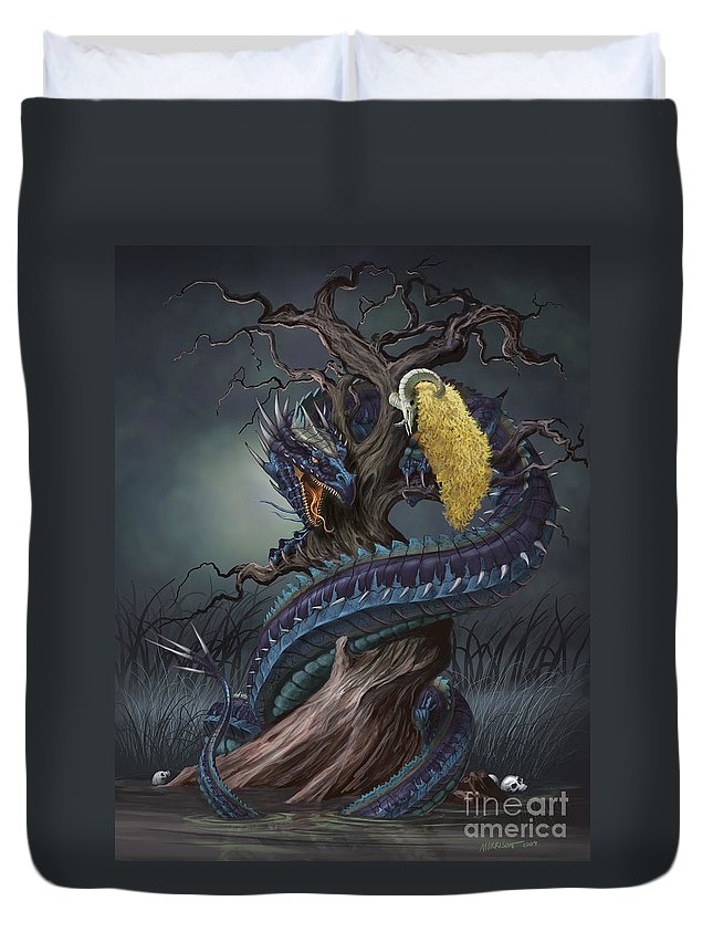 Fantasy Duvet Cover featuring the digital art Golden Fleece by Stanley Morrison