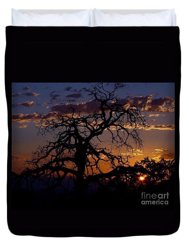 Sunset Duvet Cover featuring the photograph Golden Hour by Peter Piatt