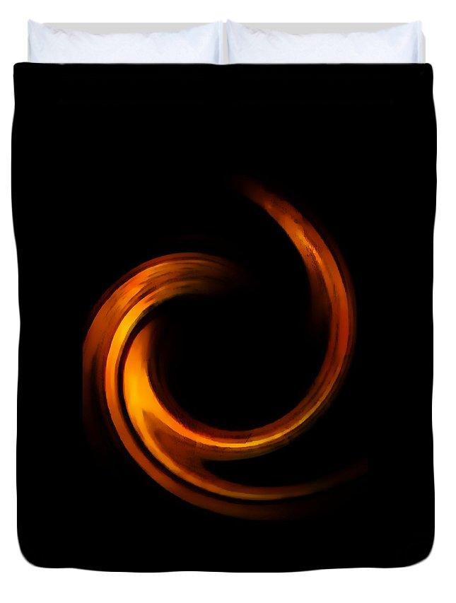 Duvet Cover featuring the digital art Golden Light by Toby Horton