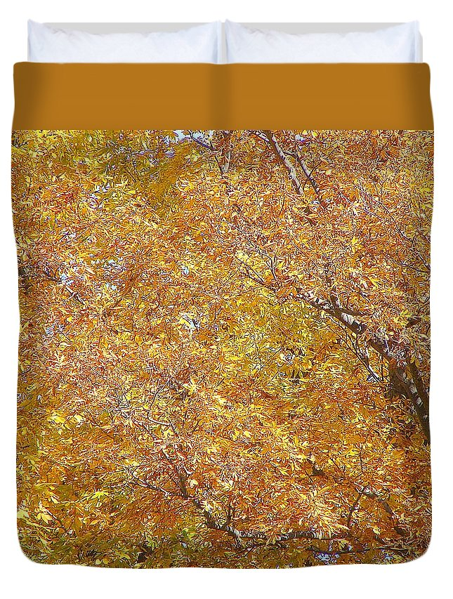 Duvet Cover featuring the photograph Golden by Luciana Seymour