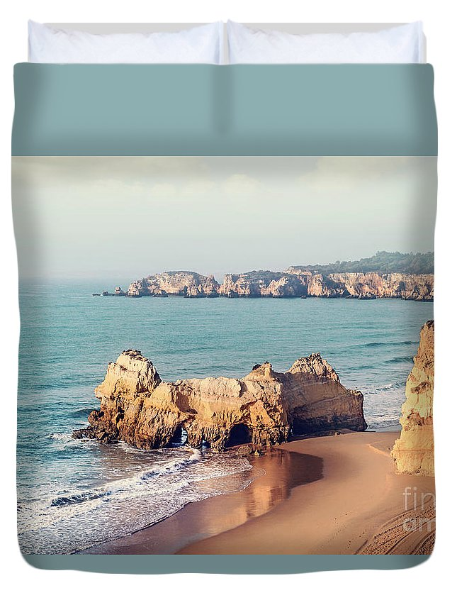 Kremsdorf Duvet Cover featuring the photograph Golden Moment by Evelina Kremsdorf
