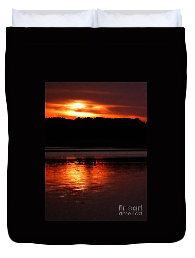 Clay Duvet Cover featuring the photograph Golden Night by Clayton Bruster