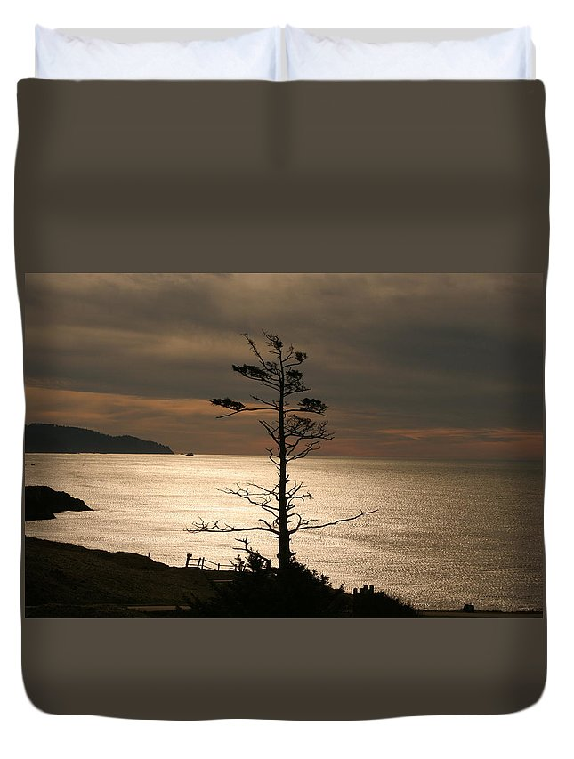 Golden Reflections Duvet Cover featuring the photograph Golden Reflections by Wes and Dotty Weber