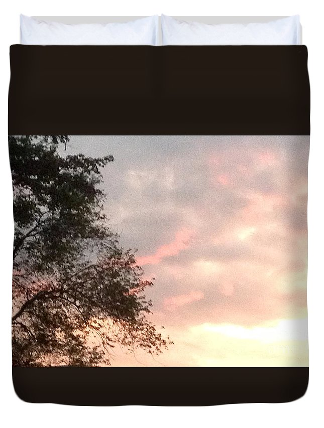 Sunset Duvet Cover featuring the photograph Golden Sky by Gina Sullivan