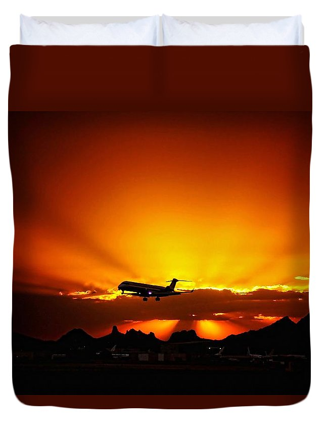 Tucson Duvet Cover featuring the photograph Golden Skyway by Scott Kimble