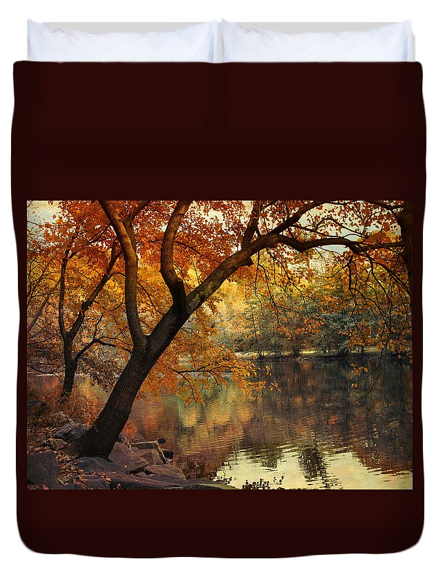 Nature Duvet Cover featuring the photograph Golden Slumber by Jessica Jenney
