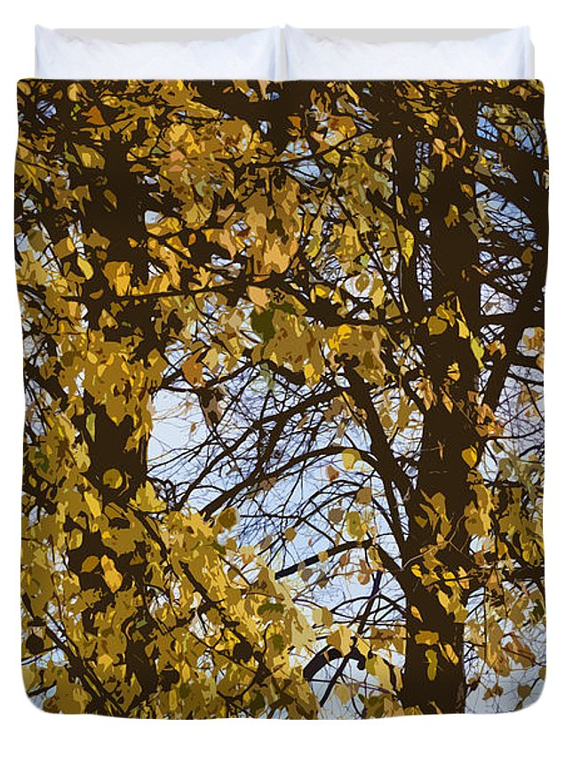 Autumn Duvet Cover featuring the photograph Golden Tree 2 by Carol Lynch