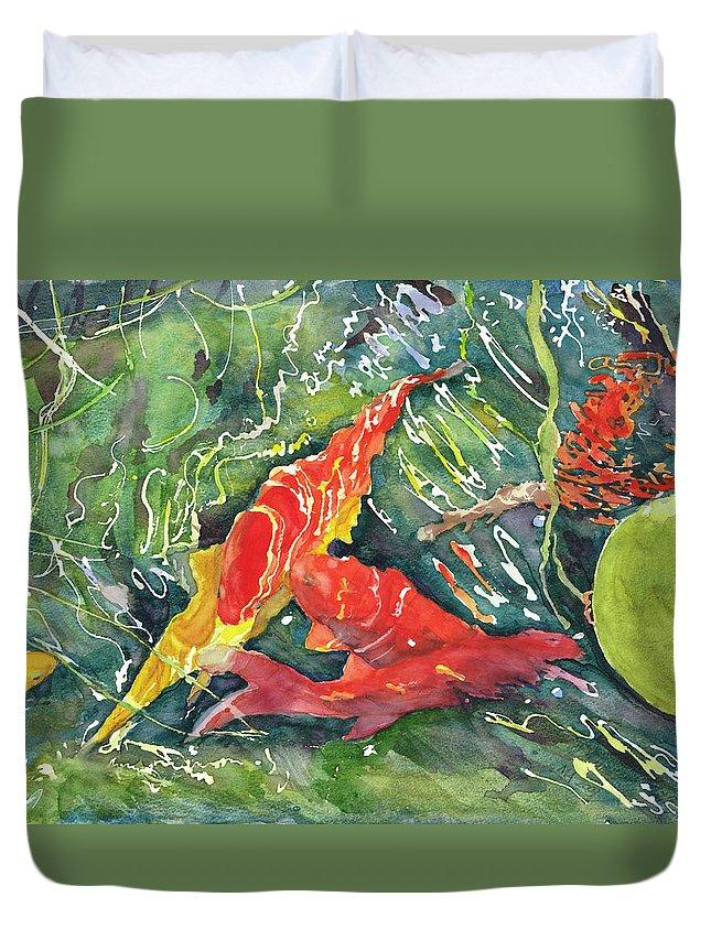 2010art Duvet Cover featuring the painting Goldrush by Madeleine Arnett