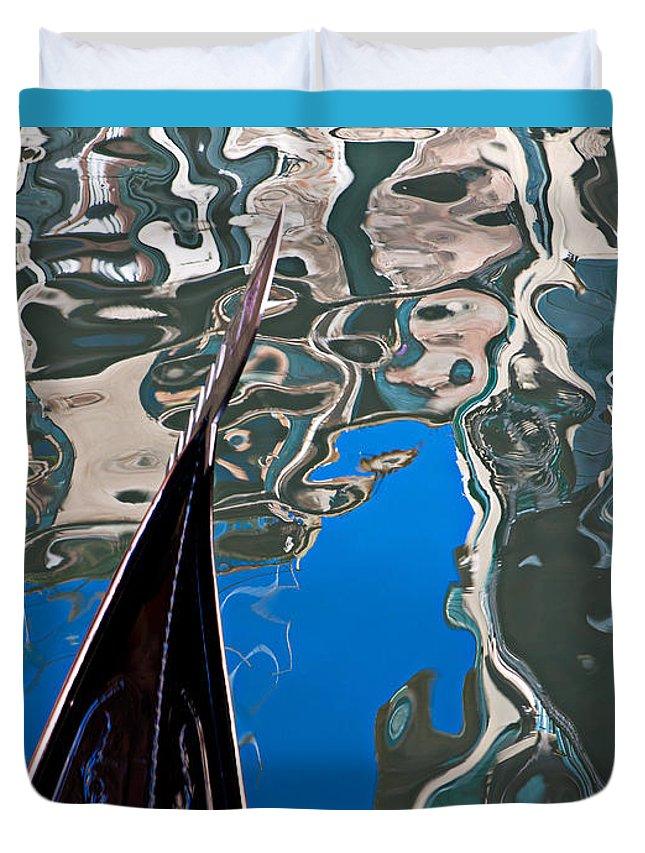 Azura Duvet Cover featuring the photograph Gondola 8 by Noel Greene