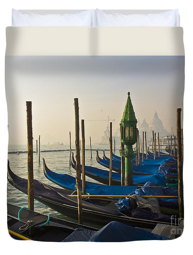 Adriatic Duvet Cover featuring the photograph Gondolas At San-marco, Venice, Italy by Svetlana Batalina