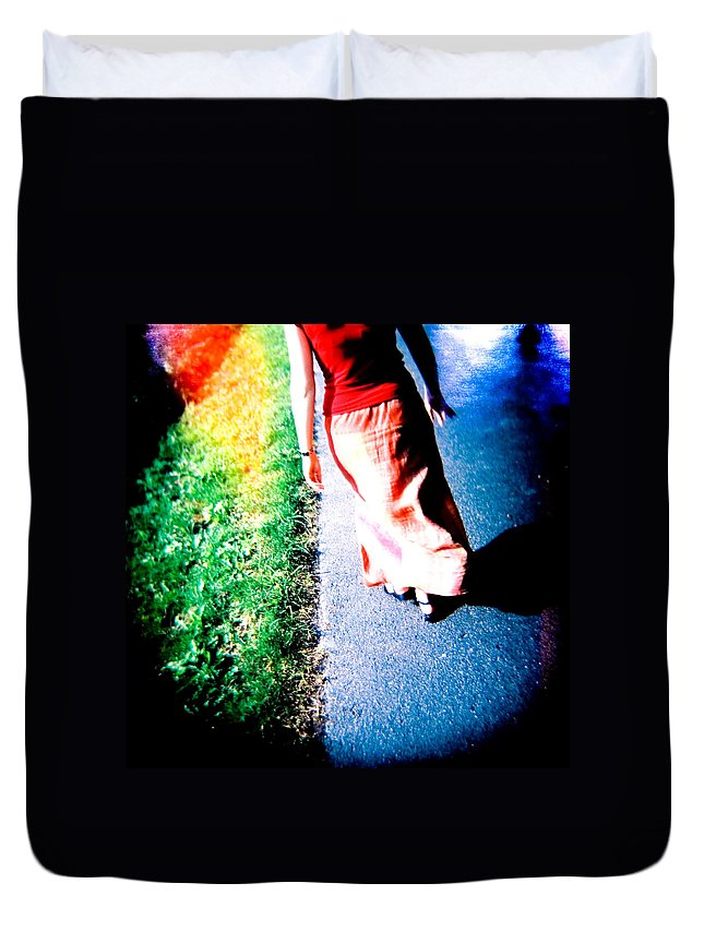 Color Photograph Holga Duvet Cover featuring the photograph Gone by Olivier De Rycke