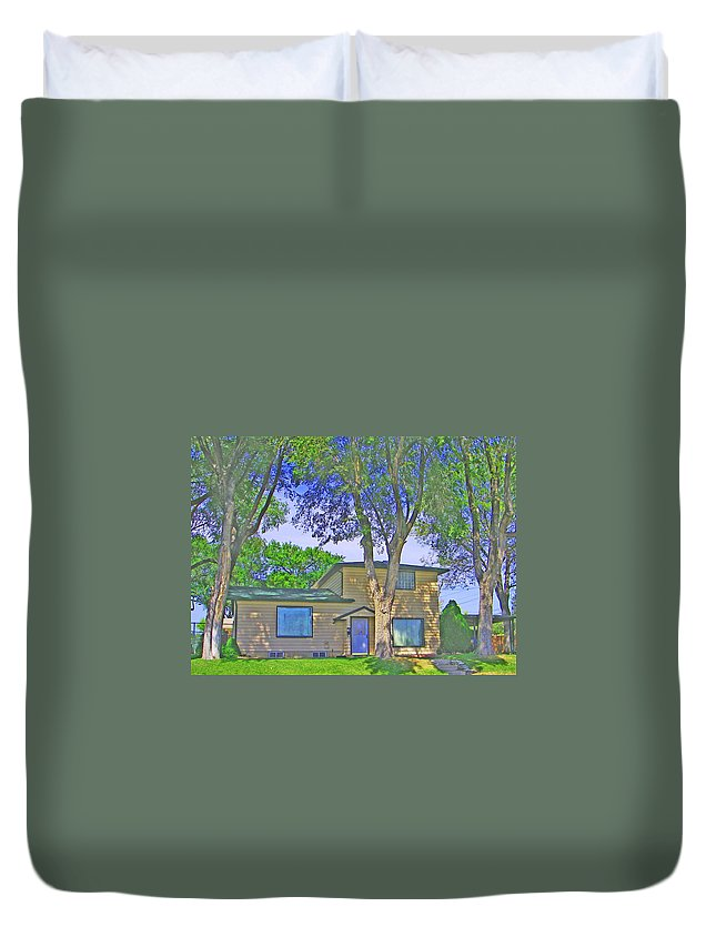 House Duvet Cover featuring the photograph Gone South by Lenore Senior