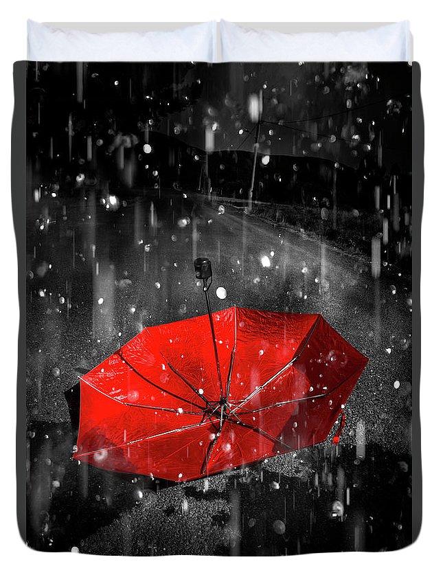 Solitary Digital Art Duvet Covers