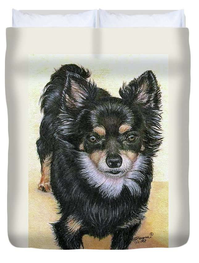 Fuqua Gallery-bev-artwork Duvet Cover featuring the drawing Good Golly Miss Molly by Beverly Fuqua