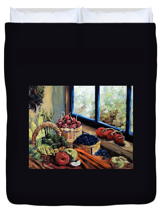 Art; Painting Duvet Cover featuring the painting Good Harvest by Richard T Pranke