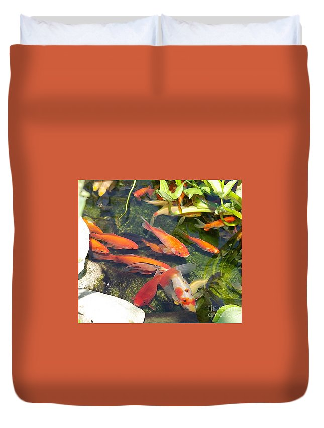 Fish Duvet Cover featuring the photograph Good Luck Charms by Victor K