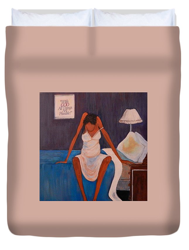 Good Morning Duvet Cover featuring the painting It's Gonna Be A Blessed Day by Brenda Reese