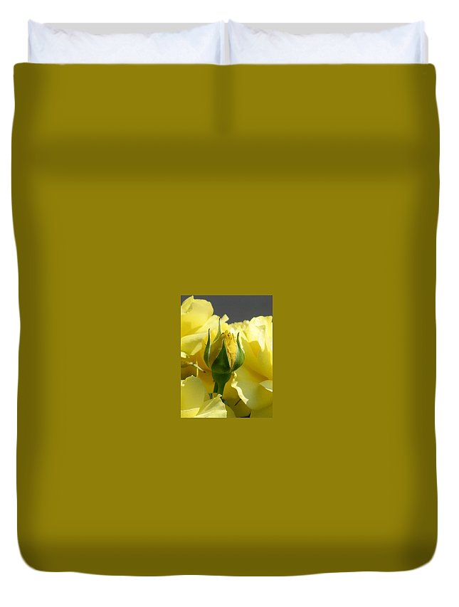 Floral Duvet Cover featuring the photograph Good Morning Sunshine by Marla McFall