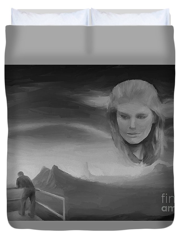 Goodbye Duvet Cover featuring the painting Goodbye by Sergio B