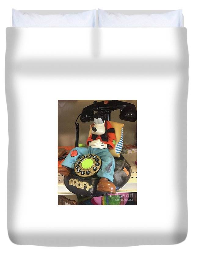 Duvet Cover featuring the photograph Goof by Idalia Ambriz