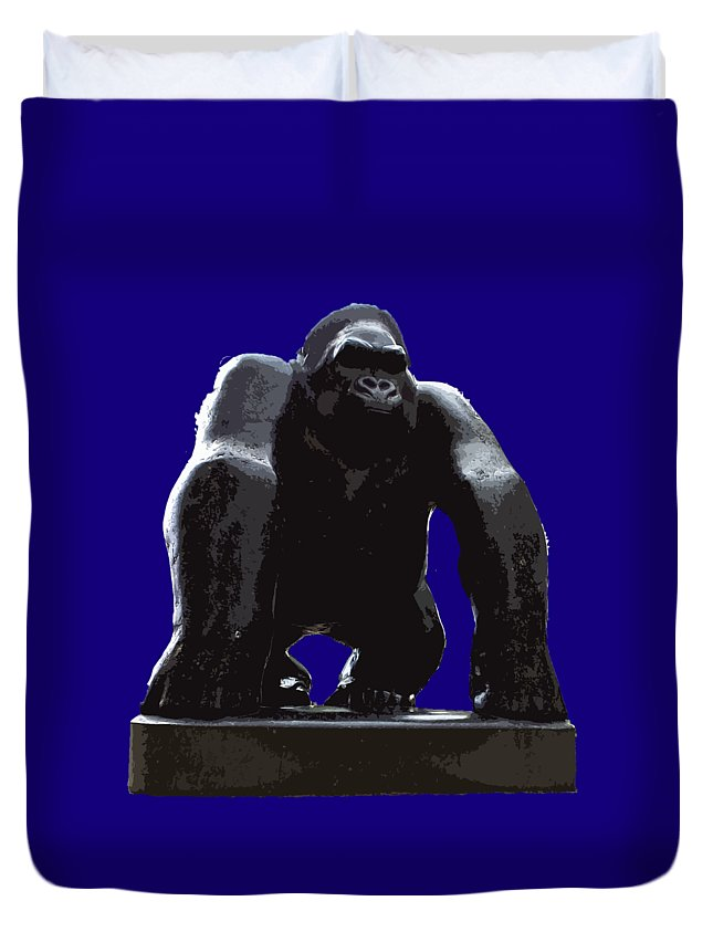 Digital Art Duvet Cover featuring the digital art Gorilla Art by Francesca Mackenney