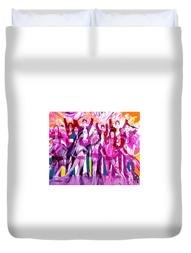 Joy Duvet Cover featuring the digital art Got To Dance by Seth Weaver