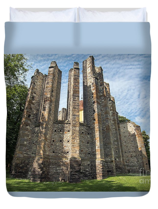 Cathedral Duvet Cover featuring the photograph Gothic Cathedral Of Our Lady by Michal Boubin