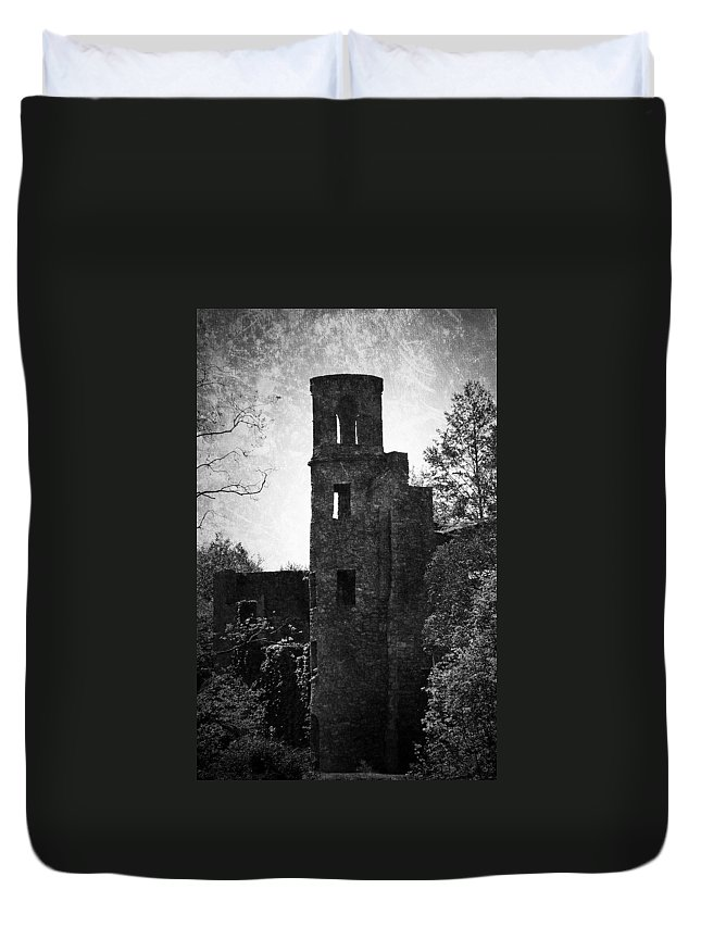 Irish Duvet Cover featuring the photograph Gothic Tower At Blarney Castle Ireland by Teresa Mucha