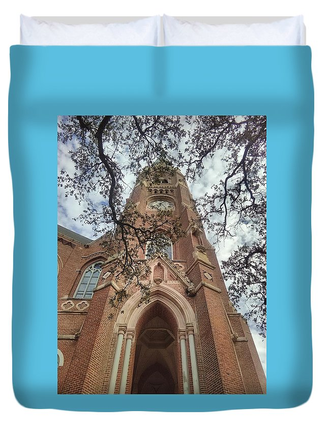 Old Church Duvet Cover featuring the photograph Gothica Omega by James Maloney