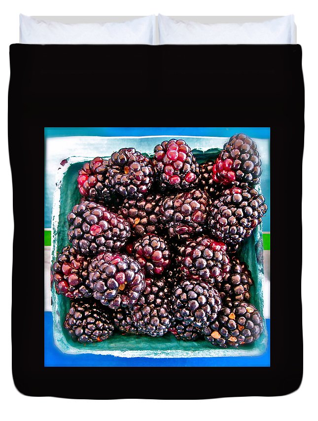 Photograph Of Berries Duvet Cover featuring the photograph Gotta Have These by Gwyn Newcombe