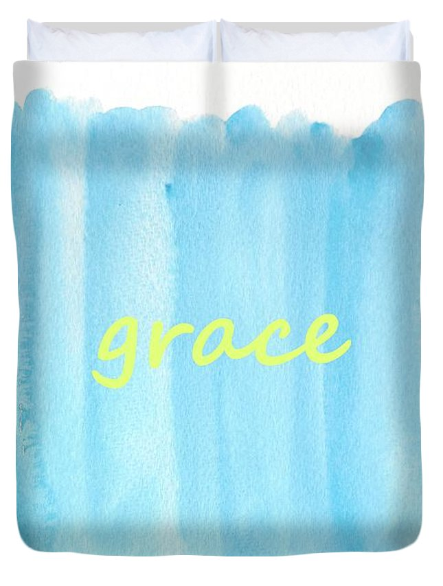 Watercolor Duvet Cover featuring the painting Grace 2 by Valourine Grace Artwork