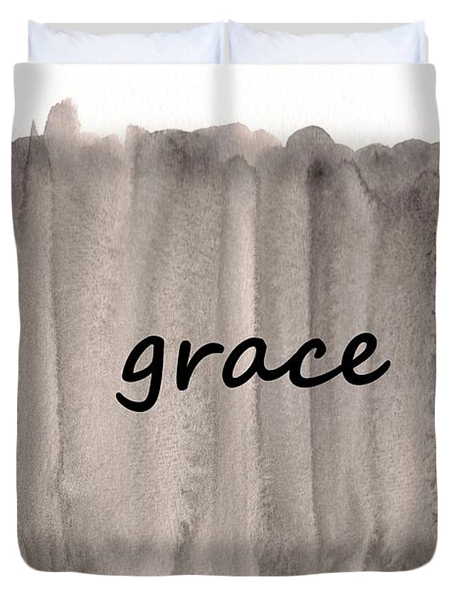 Watercolor Duvet Cover featuring the painting Grace 4 by Valourine Grace Artwork