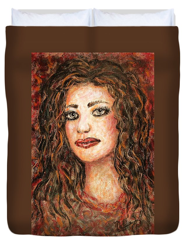 Grace Duvet Cover featuring the painting Grace by Natalie Holland