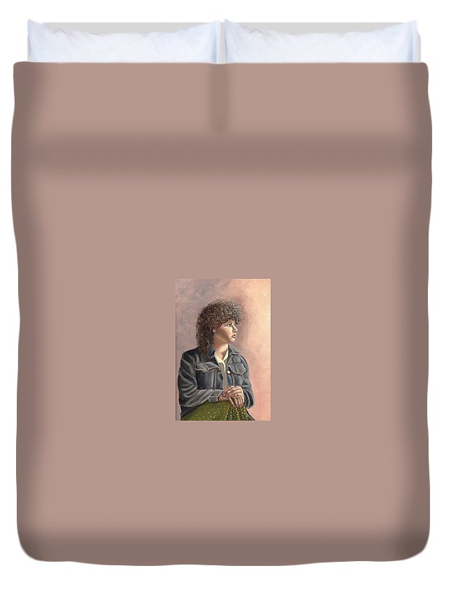 Duvet Cover featuring the painting Grace by Toni Berry