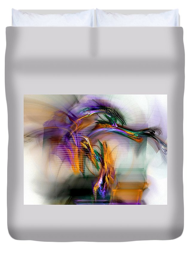 Graffiti Duvet Cover featuring the digital art Graffiti - Fractal Art by NirvanaBlues