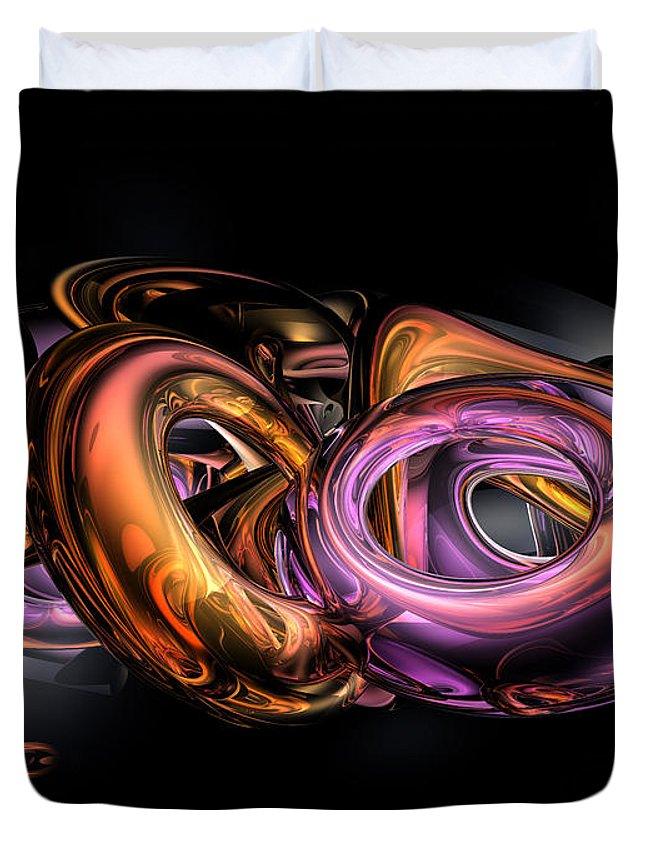 3d Duvet Cover featuring the digital art Graffiti Abstract by Alexander Butler