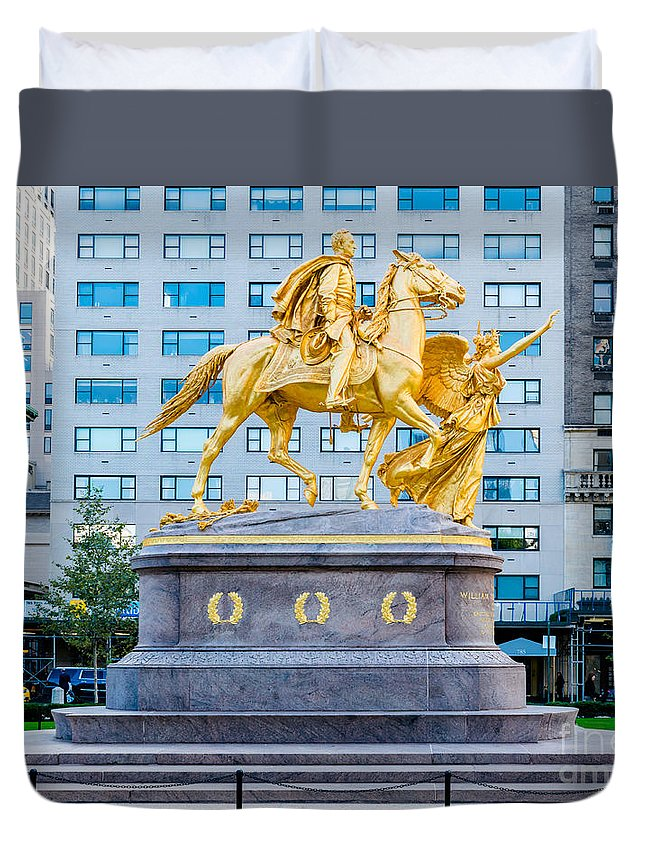 59th Duvet Cover featuring the photograph Grand Army Plaza 5 by Anakin13