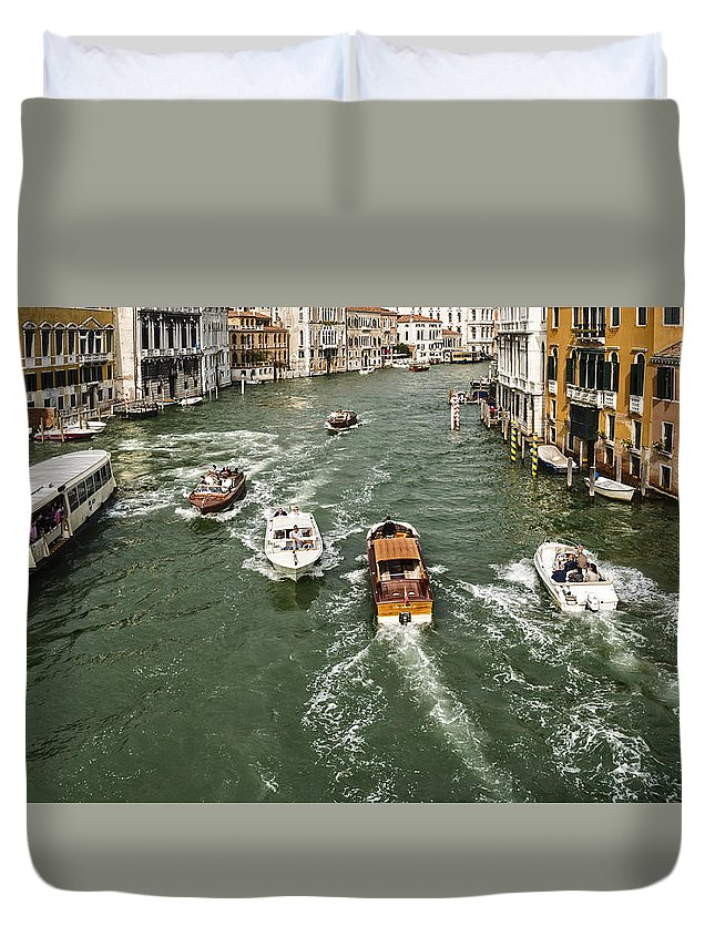 Venice Duvet Cover featuring the photograph Grand Canal by David Kay