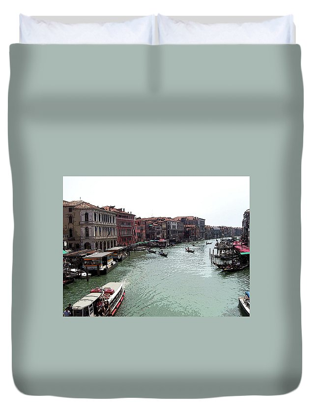 Venice Duvet Cover featuring the photograph Grand Canal Venice Italy by Debbie Oppermann