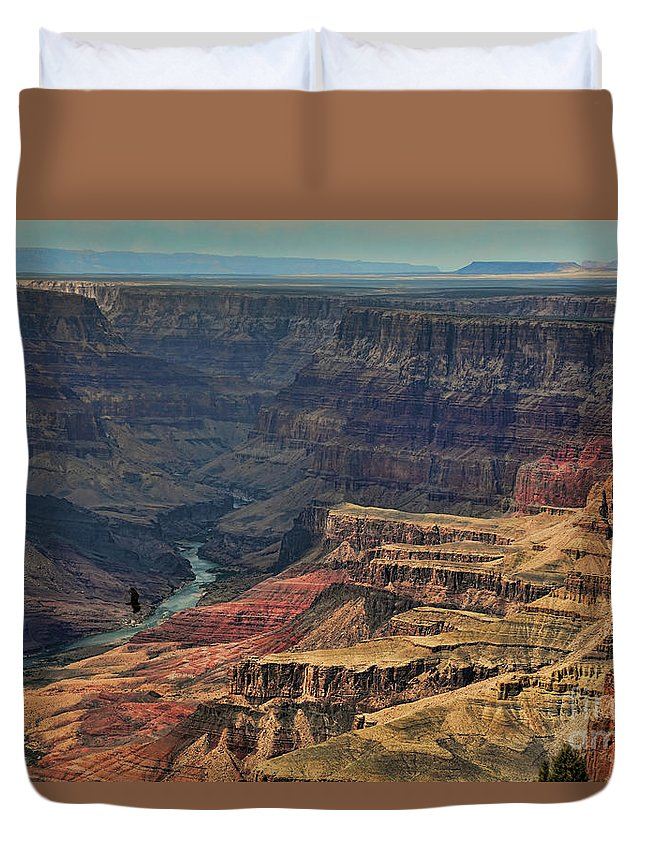 Grand Canyon Duvet Cover featuring the photograph Grand Canyon Colorado River II by Chuck Kuhn