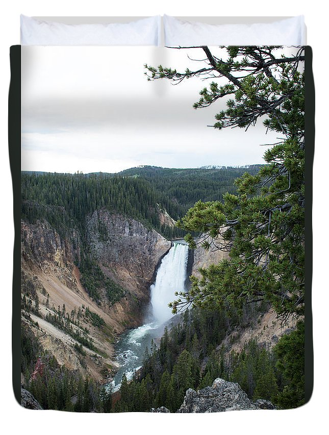 Grand Canyon Duvet Cover featuring the photograph Grand Canyon In Wyoming by Linda Kerkau