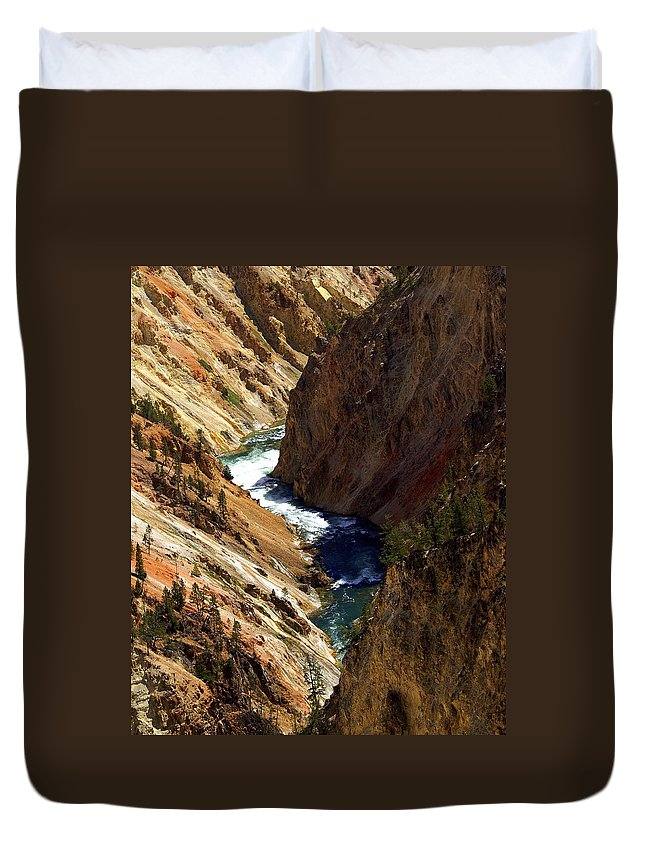 Yellowstone National Park Duvet Cover featuring the photograph Grand Canyon Of The Yellowstone 1 by Marty Koch