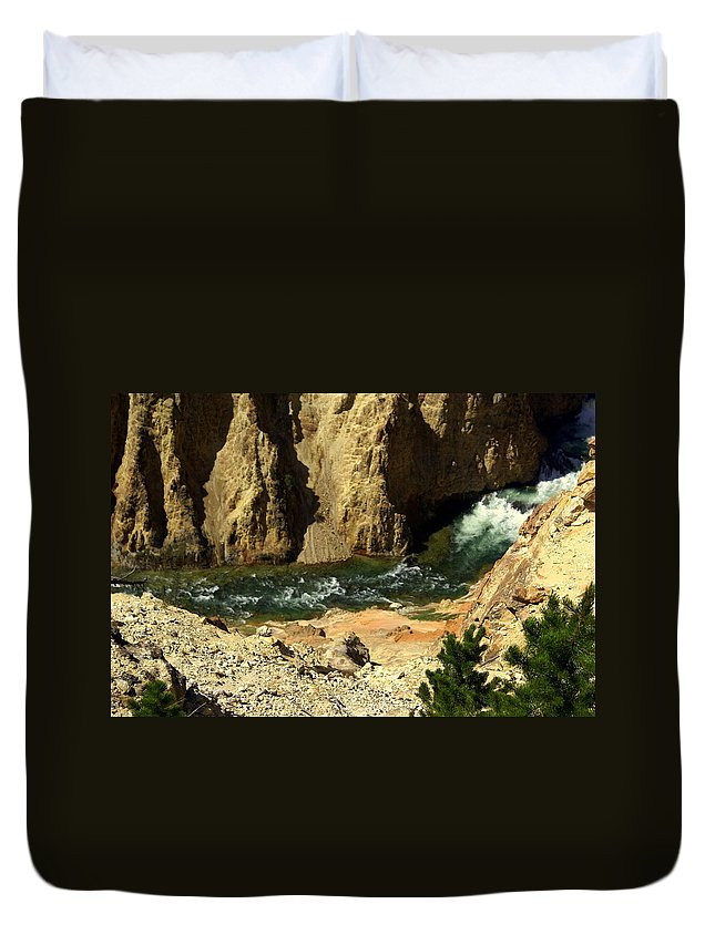 Yellowstone National Park Duvet Cover featuring the photograph Grand Canyon Of The Yellowstone 3 by Marty Koch