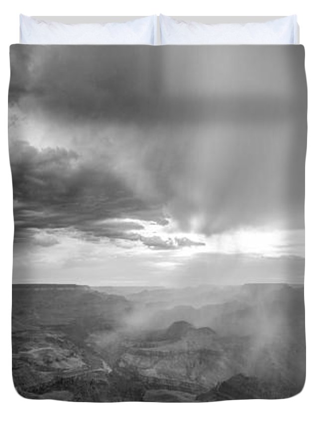 Grand Canyon Duvet Cover featuring the photograph Grand Canyon Sunset by John McGraw