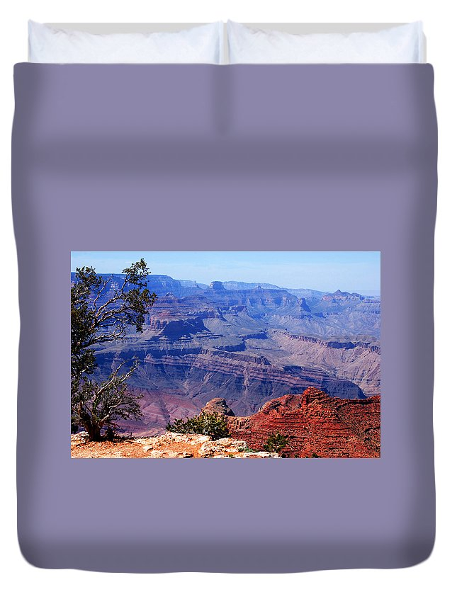 Photography Duvet Cover featuring the photograph Grand Canyon View by Susanne Van Hulst