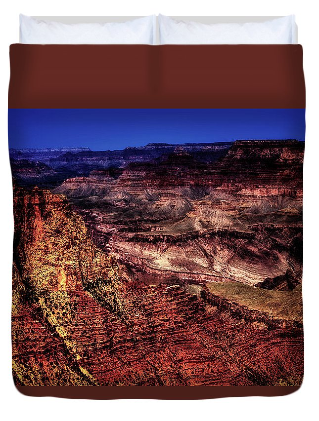 Arizona Duvet Cover featuring the photograph Grand Canyon Views No. 1 by Roger Passman